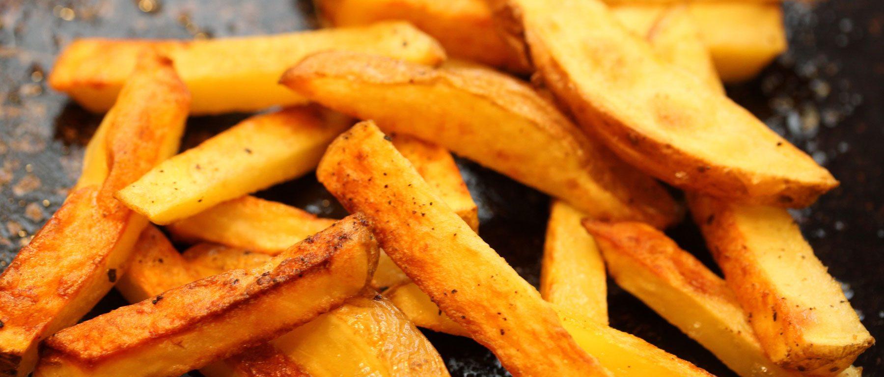 Donkere frietjes kan je het best mijden.