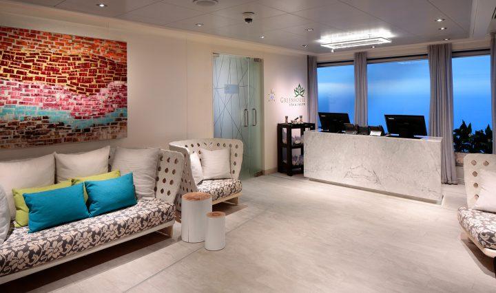 Greenhouse Spa & Salon - Reception - Deck 9 Forward Starboard Koningsdam - Holland America Line
