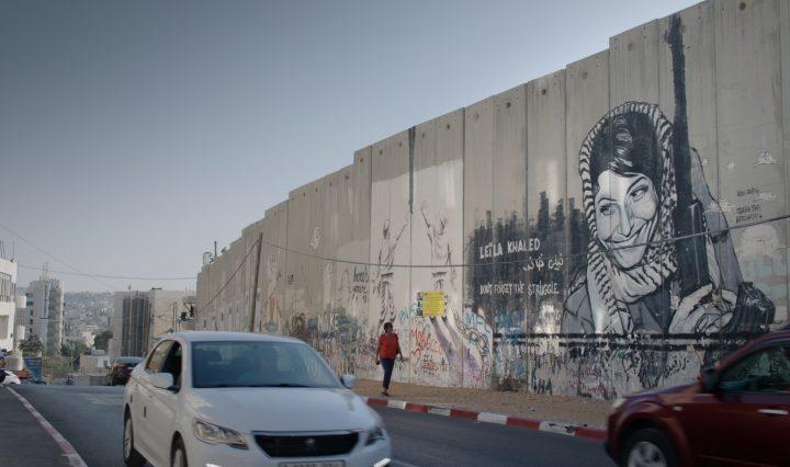 Leila Khaled op de muur