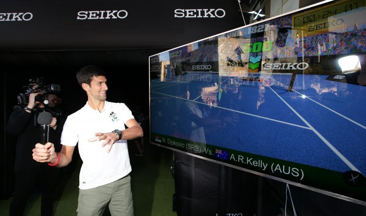 News >Novak Djokovic meets an Avatar of himself in a computer game. It's a life like game. He will also do a Q&A at Federation Square. Worlds first virtual reality computer game featuring Novak Djokovic created by Seiko Australia . Picture Andrew Tauber